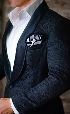 S by Sebastian Dinner Jacket Black Paisley More