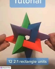 Paper Crafts For Kids, Baby Crafts, Diy And Crafts, Geometric Origami, Modular Origami, Toddler Learning Activities, Craft Activities, Paper Decorations, Christmas Decorations