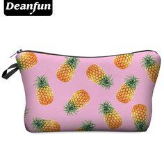 Deanfun 3d印刷女性化粧品袋で多色柄化粧ポーチかわいい化粧品pouchsため旅行