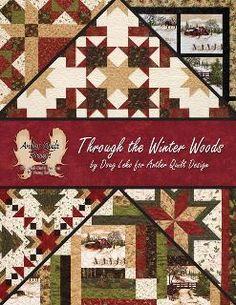 """Doug Leko's newest book """"Through The Winter Woods"""" is wonderful with several projects big and small.  Feathering Holly Taylor's fabric line Through The Winter Woods."""