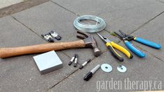 metal stamping supplies for plant tags (via Garden Therapy)