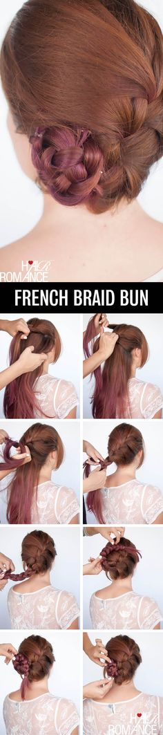 French-braid bun.