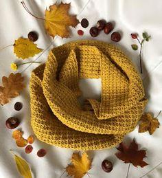 Mustard Scarf, Crochet Shawls And Wraps, Trendy Colors, Yarn Crafts, Double Crochet, Crochet Patterns, Blog, Beautiful, Autumn