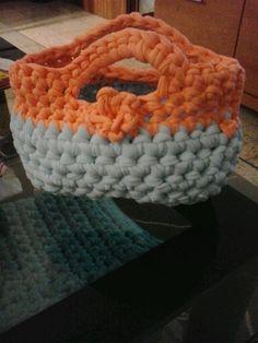 New cesta naranja y azul clarito