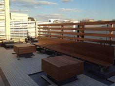 ベンチ改修工事 | ウッドデッキの情報が満載! 日本ウッドデッキ協会
