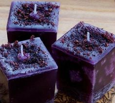Wild Harvest Berries Tapered Square Pillar Votive Candles for Lughnasadh