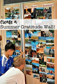 Every year I like to celebrate the fun we had during the summer by creating a gratitude wall on our refrigerator door that showcases a collection of pictures that capture some of our favorite summer activities. Summer Diy, Summer Ideas, Teaching Time, Crafts With Pictures, Organized Mom, Summer Bucket Lists, Family Memories, Family Adventure, Family Traditions