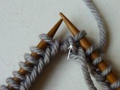 Ring sluiten op een rondbreinaald - stap voor stap uitleg Knitting Stiches, Handicraft, Diy And Crafts, Wool, Stitch, Pattern, Tricot, Craft, Full Stop