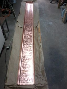2.8m hand crafted copper drip tray