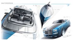 Rolls-Royce Bespoke Waterspeed Collection Design Sketches