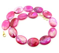 Agate Jewelry, Agate Beads, Stone Jewelry, Pink Stone, Shopping Mall, Natural Stones, Wedding Jewelry, Promotion, Hot Pink