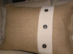 Insp.: Burlap Pillow