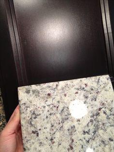 For the basement kitchenette. Kitchen Cabinet (Espresso) and Granite (Crema Perla)