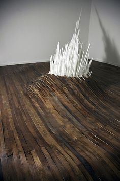 A Giant Synthetic Crystal Explodes Through Gallery Floors at the School 33 Art Center in Baltimore