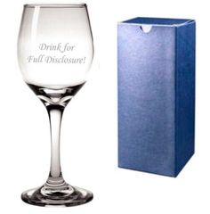 Addams Famimly - Full Disclosure wine glass