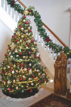 Our Foyer At Christmas