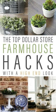Dollar Store Hacks, Dollar Tree Store, Dollar Store Decorating, Dollar Stores, Decorating Ideas, Decor Ideas, Dollar Tree Decor, Dollar Tree Crafts, Farmhouse Style Decorating