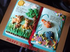 Storybook ! Storybook ! This cake was for a 3 yr old girl who could not make up her mind if she wanted Lion King or Nemo. So her mother asked me to put... #featured-cakes #alyssac #leannew #cakecentral