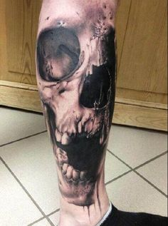 Skull on leg