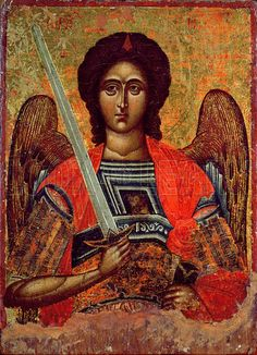 Icon of the Angel Michael, Greek, 18th century.