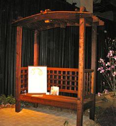 Japanese Pergola Bench