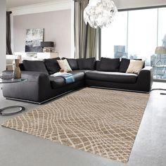Lugano 150 040 Plain Black Rug By Golze – Black Carpet Black Carpet, Black Rug, Modern Carpet, Lugano, Natural Rug, Natural Brown, Brown Rug, Carpet Design, Plain Black