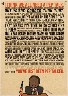 Over 31 million people have been pep-talked by Kid President! Get this awesome pep talk on a postcard free when you order a KP t-shirt over ...