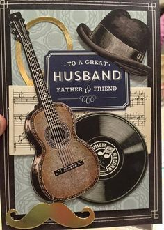 Image Result For Birthday Cards With Guitars Musical Him Decoupage