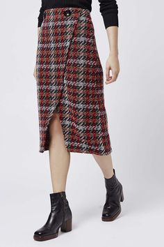 Photo 4 of Check Wrap Midi Skirt