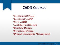 CADD Centre offers courses for #Civil #Mechanical #Electrical engineering students to create and manage designs by using AutoCAD software.http://caddcentrenag.com/courses.html