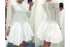 White Dresses Short prom Dresses Party Dresses Evening Dresses Lace
