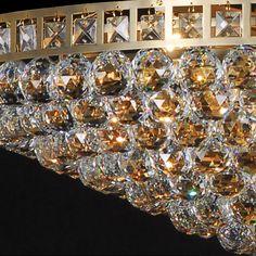 Large Multi Crystal Ball Chandelier – Allissias Attic