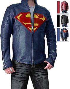 Mens Slimfit Super Blue Jacket - Synthetic Leather (3XL) ...