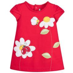 Mayoral Baby Girls Red Cotton Dress  at Childrensalon.com