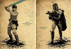 Star Wars Minimalist Movie Poster Set / Darth Vader by moonposter