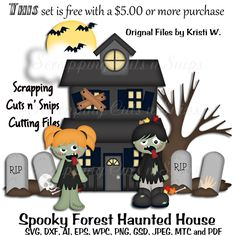 Spooky Forest Haunted House Cutting File Set