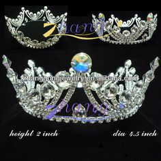 jingling crown alibaba crowns sizes | Wholesale crystal AB fully round pageant crown .fabulously understated ...