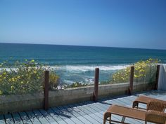 Encinitas house rental - Oceanfront Lower Deck, relax to the sounds of waves, watching rolling waves
