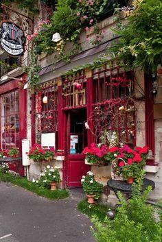 crimson shop front
