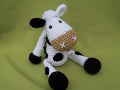 Every child (and not only a child) needs a friend to talk to, to share secrets and play with. Make such a friend with your hands full of love. Crochet a cute little cow to be a best friend for your little one. Detailed instructions and pictures help you to crochet all parts of the cow and put them together to complete Matylda. Difficulty: suitable for beginners (however crochet basics needed) All my patterns are available in Czech / English / German language. Please note in your o...