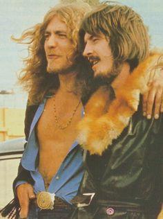 Robert Plant and John Bohnham