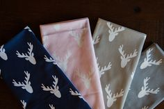 These fabrics feature a deer silhouette or woodland theme. Deer Fabric, Deer Silhouette, Woodland Theme, Home Decor Fabric, Fabrics, Crafting, Tejidos, Do Crafts, Crafts