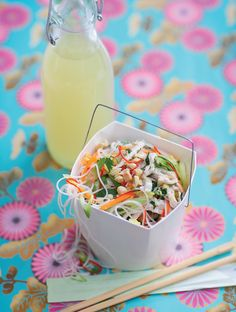 Vietnamese Chicken Noodle Salad - The Happy Foodie