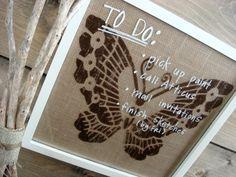 Burlap Butterfly Wall Art OR Dry Erase Memo Board. $54.00, via Etsy.