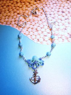 CAPTUREDResin Octopus Anchor Charm by IMPARTANDACCESSORIES on Etsy, $15.95