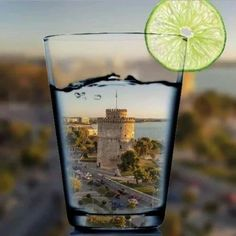 Cheers - Raise your glass to ancient Thessaloniki, in historical Macedonia, northern Greece My Town, Paradis, Great Words, Macedonia, Shot Glass, Summertime, Beautiful Places, Scenery, City