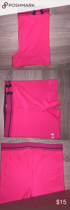 UNDER ARMOUR hot pink spandex shorts Hot pink worn once Under Armour shorts Under Armour Other