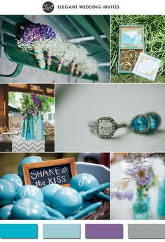 scuba blue and purple spring wedding color ideas for 2015 trends
