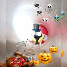 🥳 It's October Halloween! Trick Or Treat, Happy Halloween, Gifs, October, Presents