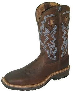 226a85f5aae Twisted X Work Boots Mens Western Steel Toe Brown Pebble